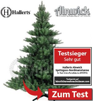 testsieger fast echt wirkender tannenbaum von hallerts. Black Bedroom Furniture Sets. Home Design Ideas